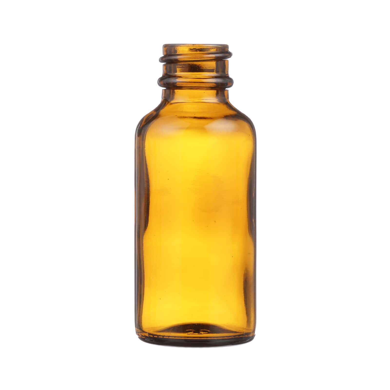 190b5258fa82 1 oz Amber Glass Boston Round Bottle - 20-400 Neck Finish